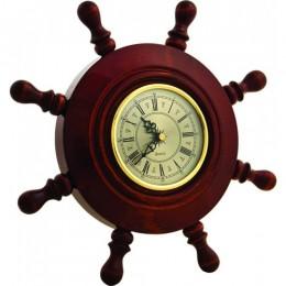 Часы штурвал настенные деревянные