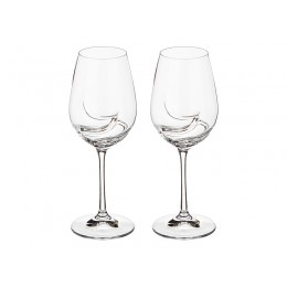"Набор бокалов для вина из 2 шт. ""Turbulence"" 350 мл.высота 22,5 см."