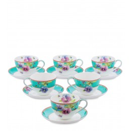 JK-115 Чайный набор на 6 перс. ''Виола'' (Viola Pavone)