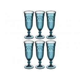 """Набор бокалов для шампанского из 6 шт.""""ИНДИГО"""" 180 мл. Высота=19 см."""