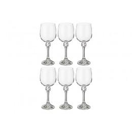 """Набор бокалов для вина из 6 шт. """"Джулия"""" 230 мл..высота 18 см."""