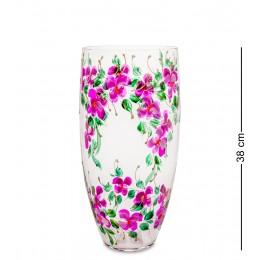 """VZ-257 Ваза стеклянная """"Орхидея розовая"""" (бочка)"""