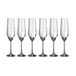 "Набор бокалов для шампанского ""Waterfall"" из 6 шт.190 мл."