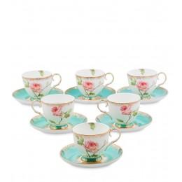 JK- 67 Чайный набор на 6 перс. ''Роза'' (Milano Rose Pavone)