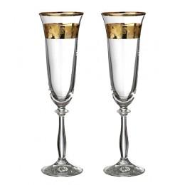 """Набор бокалов для шампанского из 2 шт.""""Анжела love"""" 190 мл."""