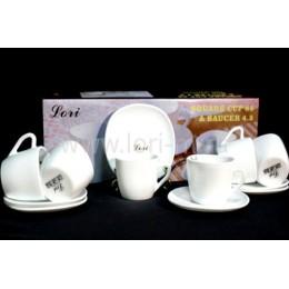 Кофейный набор 12пр. WHITE в подарочной упаковке