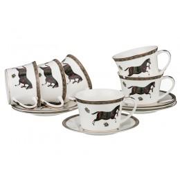 Кофейный набор на 6 персон 12 пр.лошадь 180 мл.
