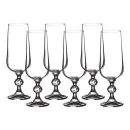 Набор бокалов для шампанского из 6 шт. Клаудия 180 мл.