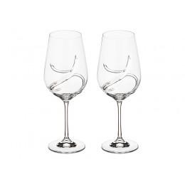 "Набор бокалов для вина из 2 шт. ""Turbulence"" 550 мл.высота 25 см."