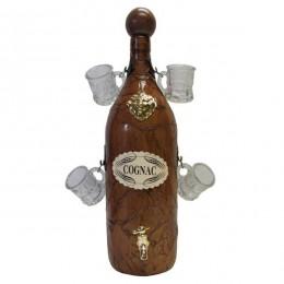Бутыль д/коньяка (2000 мл) с 4 рюмками (50 мл)