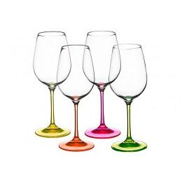 Набор бокалов для вина из 4 шт. Neon 350 мл.