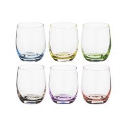 Набор стаканов для виски из 6 шт. Rainbow 300 мл.высота 9 см.