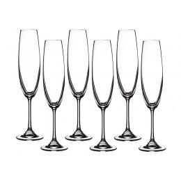 Набор бокалов для шампанского из 6 шт. Барбара 250 мл.