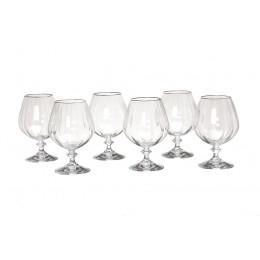 Набор бокалов для коньяка из 6 шт.анжела оптик 400 мл.
