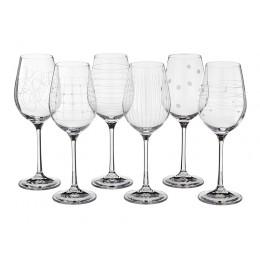 Набор бокалов для вина из 6 шт. Виола микс 250 мл.