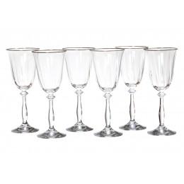 Набор бокалов для вина из 6 шт.анжела оптик 250 мл.