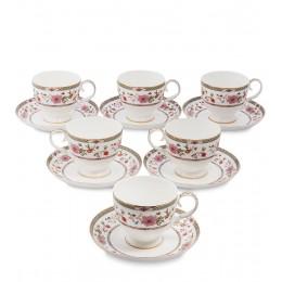 JK-215 Чайный набор на 6 перс. ''Милано-Мариттима'' (Milano Marittima Pavone)