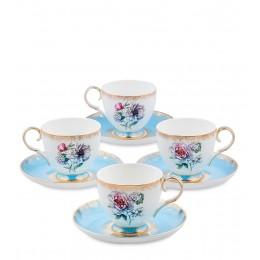 JK-129 Чайный набор на 4 перс. ''Цветок Неаполя'' (Fiore Napoli Pavone)