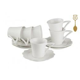 """Кофейный набор на 6 персон 12 предметов """"Heliotrope"""" 170 мл."""