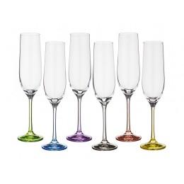 Набор бокалов для шампанского из 6 шт. Rainbow 190 мл.