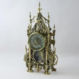 """Бронзовые антикварные каминные часы """"Кафедрал"""""""