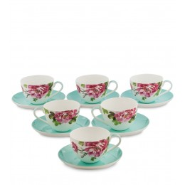 JK-184 Чайный набор на 6 перс. ''Тоскана'' (Toscana Pavone)
