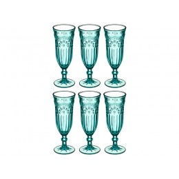 """Набор бокалов для шампанского из 6 шт.""""ТУРКУАЗ"""" 180 мл. Высота=19 см."""