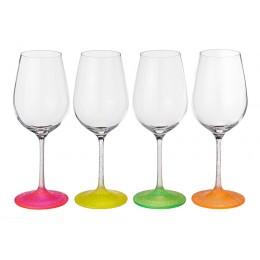Набор бокалов для вина из 4 шт.neon frozen 350 мл.