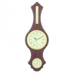 Композиция время с метеостанцией (термометр, гигрометр), L28 W6 H84 см