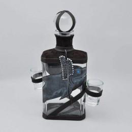 Подарочный графин со стопками для коньяка Акуле Бизнеса