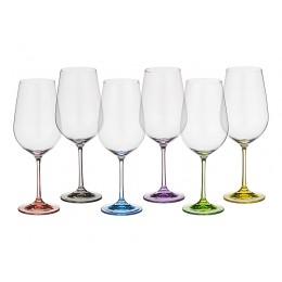 Набор бокалов для вина из 6 шт. Rainbow 550 мл.