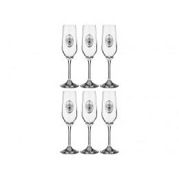 """Набор бокалов для шампанского из 6 шт.""""РОССИЯ"""" 200 мл.высота=23 см."""