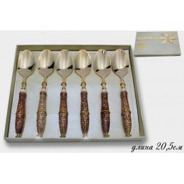 Набор из 6 ложек KRISTAL DE LUX в подарочной упаковке