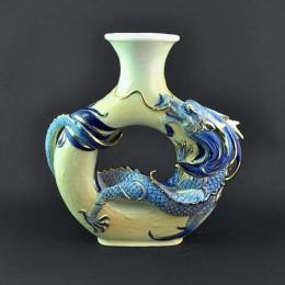 Керамическая ваза ручной работы Дракон