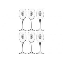 """Набор бокалов для вина из 6 шт.""""РОССИЯ"""" 300 мл.высота=22 см."""