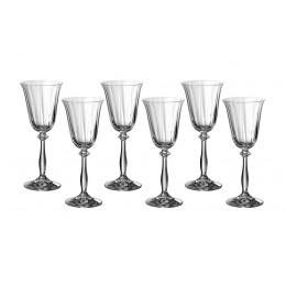 Набор бокалов для вина из 6 шт. Анжела оптик 185 мл.