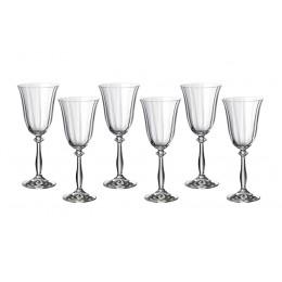 Набор бокалов для вина из 6 шт. Анжела оптик 250 мл.
