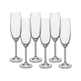 Набор бокалов для шампанского из 6 шт. Гастро 220 мл.
