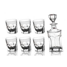 """Набор для виски """"Акапулько"""" 7 предметов : штоф+6 стаканов 700/350 мл."""