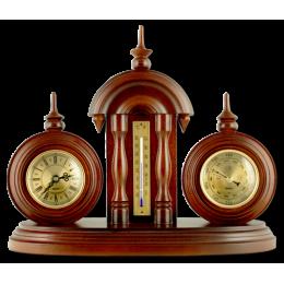 Настольные часы с термометром и барометром