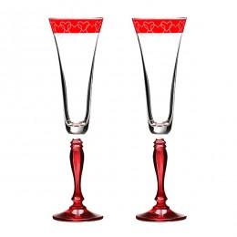 Набор бокалов для шампанского из 2 шт.180 мл.