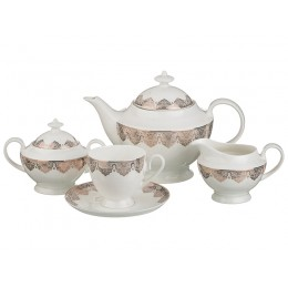 """Чайный сервиз """"Византия"""" на 6 персон 15 пр.1200/250 мл."""
