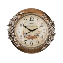 Часы настенные кварцевые 46*9*44 см. Диаметр циферблата=30 см.