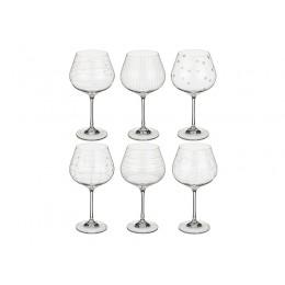 """Набор бокалов для вина из 6 шт. """"Виола"""" микс 570 мл.высота 21 см."""