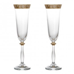 Набор бокалов для шампанского из 2 шт.новогодний 190 мл.