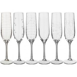 """Набор бокалов для шампанского из 6 шт.""""ELEMENTS""""190 мл.высота=24 см."""