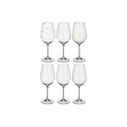 Набор бокалов для вина из 6 шт. Виола микс 450 мл.высота 24 см.