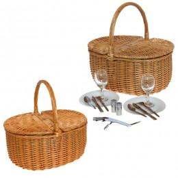 """Набор для пикника в плетеной корзине на 2 персоны """"Meadow"""""""