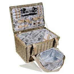 """Набор для пикника в плетеной корзине """"Paris"""" на 4 персоны"""