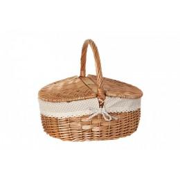 """Плетеная корзина для пикника с чехлом """"Бланш"""""""